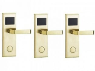 Door Lock With RFID Card Access Control – Gold – 3