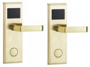 Door Lock With RFID Card Access Control – Gold – 2