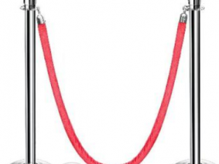Rope Type Stanchion Crowd Queue Control Barrier
