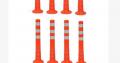 Surface Mount Delineator Reflective Warning Post –