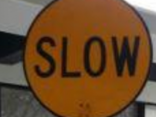 Traffic Slow Sign by Hiphen solutions