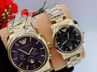 Montblanc and Emperio Armani chain Wristwatches